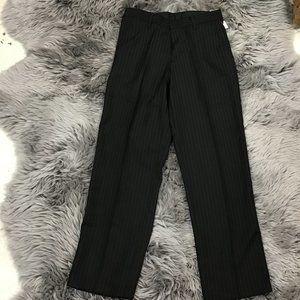 Dockers   Boy's Dress Pants   Black   Pin stripe